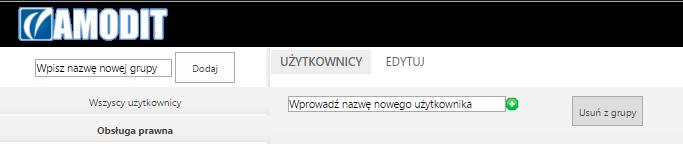 ekran - grupy dodawanie użytkownika